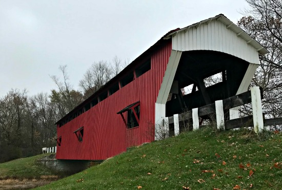 Covered Bridge at Conner Prairie in Hamilton County Indiana