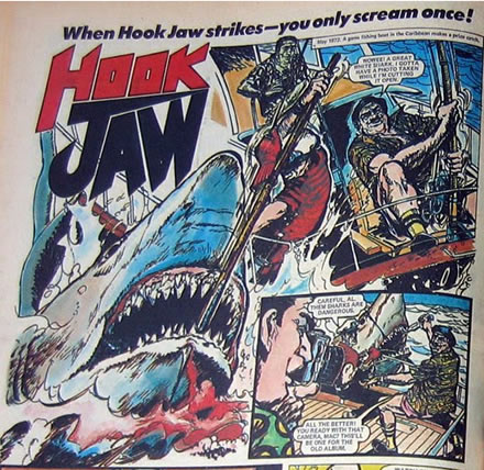 ACTION Comic's 'Hook Jaw' series