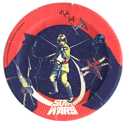 star wars paper plate 1977 or 1978