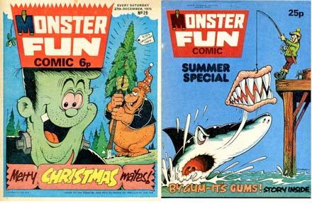 monster fun comics britain frankiestein and gums!