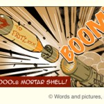 Jack goes over the top in this action-packed War strip - to attack the German Tank with a Sticky-Bomb!