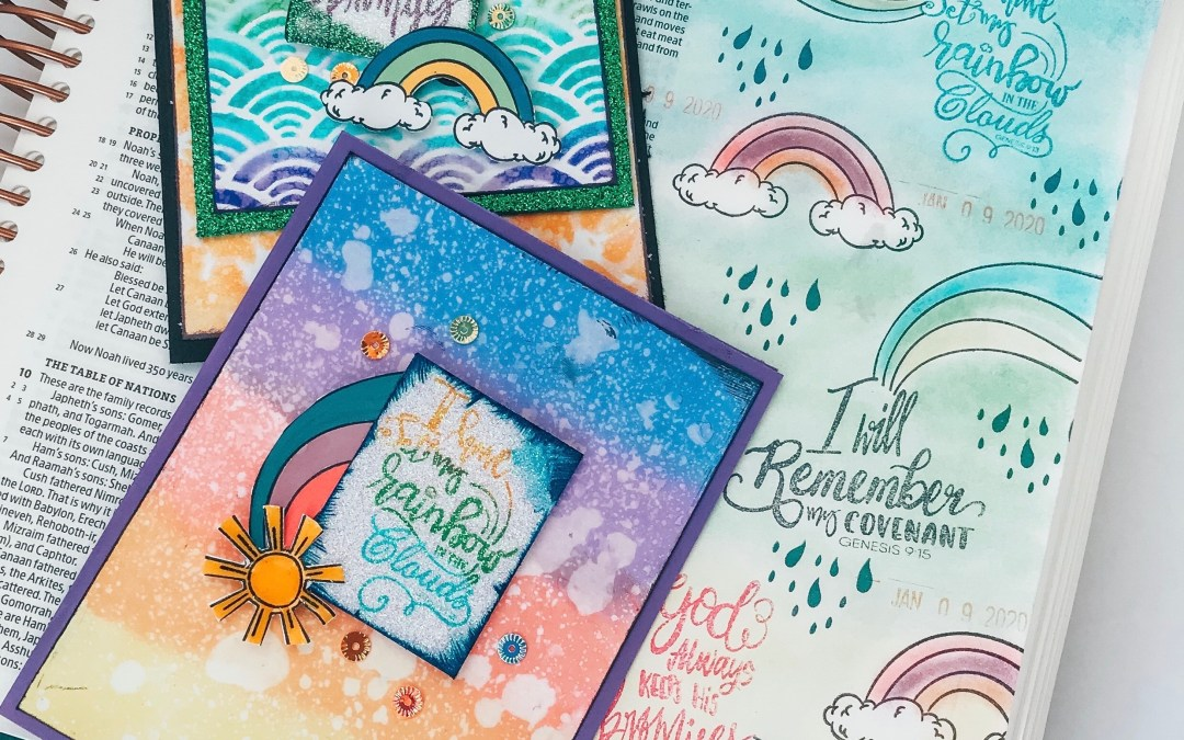 How to Stretch a Bible Art Stamp Set