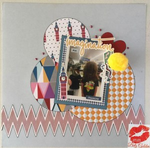 Circle Scrapbook page