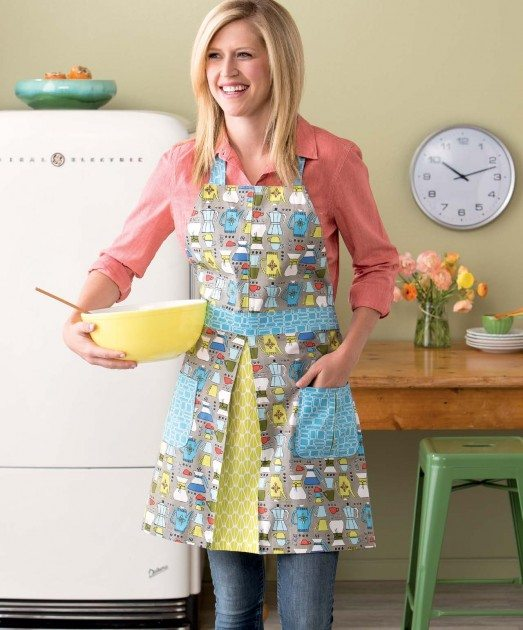 Present Perfect - Make & Bake Apron betz white