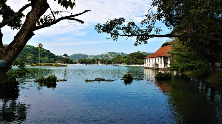 Kandy Lake, in Kandy Sri Lanka