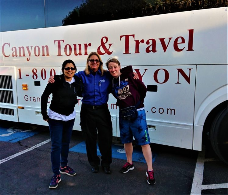 Bev & Shams with Tess our driver with Grand Canyon Tour and Travel
