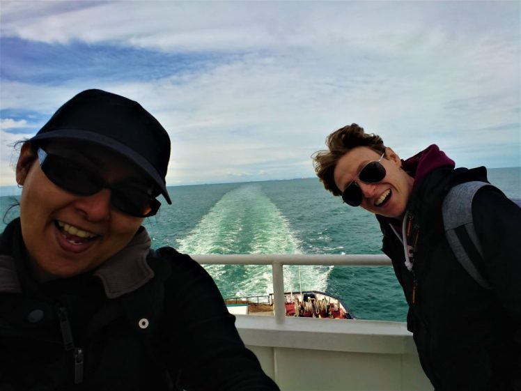 Bev & Shams Adventures on the DFDS Ferry on our way to Dunkirk in France