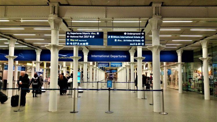 St Pancras Departures for Eurostar