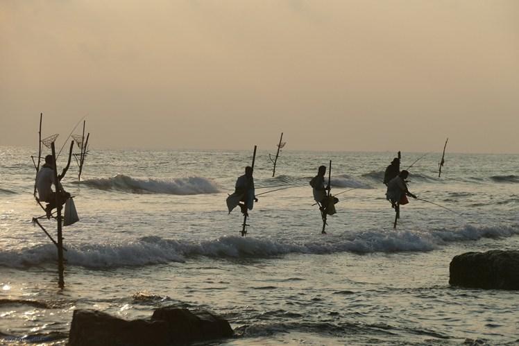 One of the best beaches in Sri Lanka to see stilt fisherman - By Bye:Myself