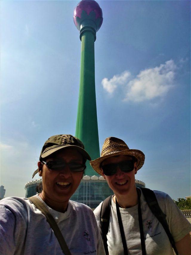 Bev & Shams at Colombo Lotus Tower