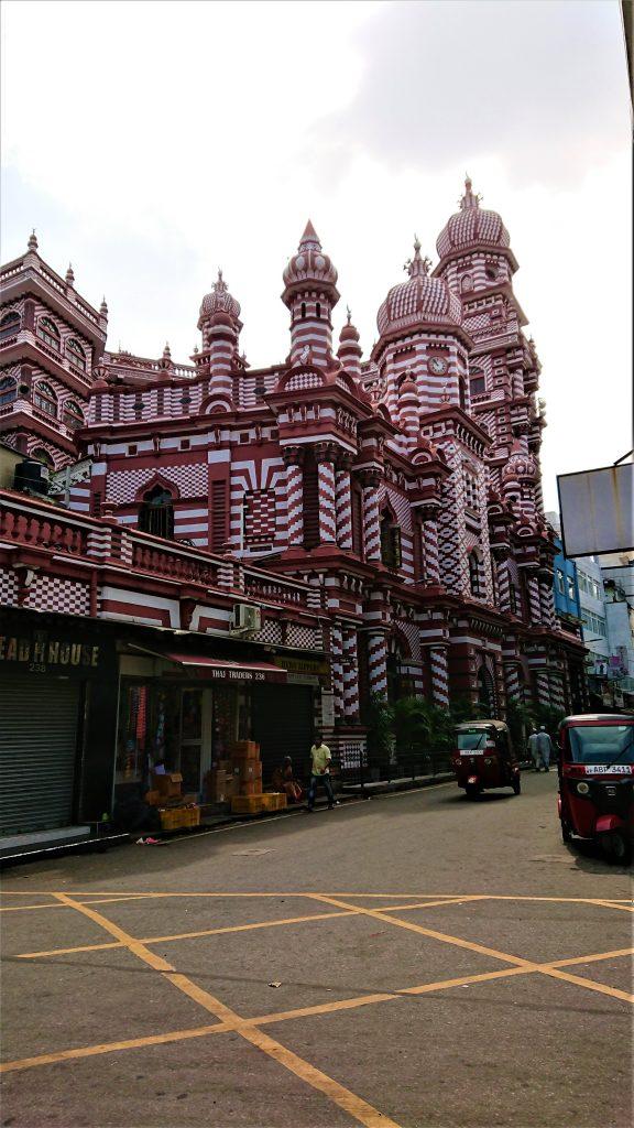 Jami-Ul-Alfar Mosque in Colombo