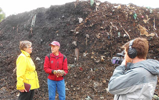 Sandra chats during a Brick End's tour about the finer points of composting