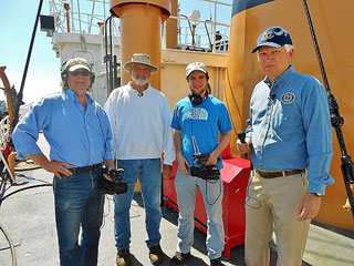 Lightship Museum President Bob Mannino led a tour of the Nantucket