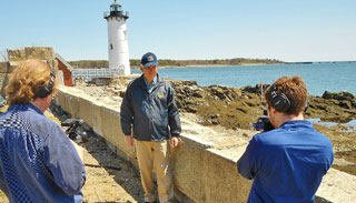 Phil Karwowski gives viewers a history lesson on Portsmouth Light