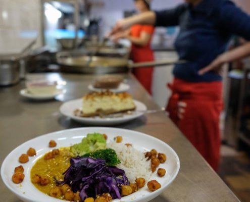 restaurants vegans à Bruxelles l'eau chaude