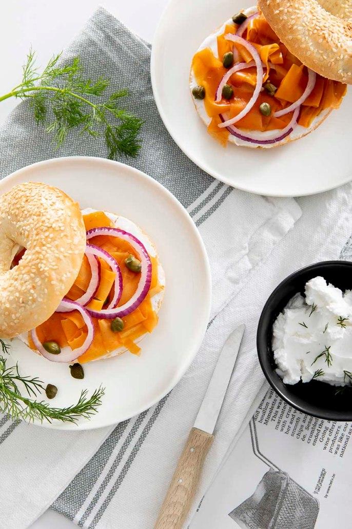 veganistische zalm van wortel