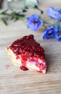 recette végane cheesecake aux framboises