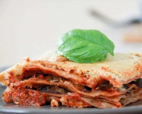 Vegan recept lasagne met aubergine