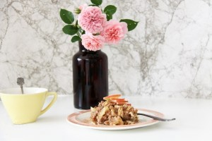 recept veganistisch ontbijt havermout met appel en kaneel