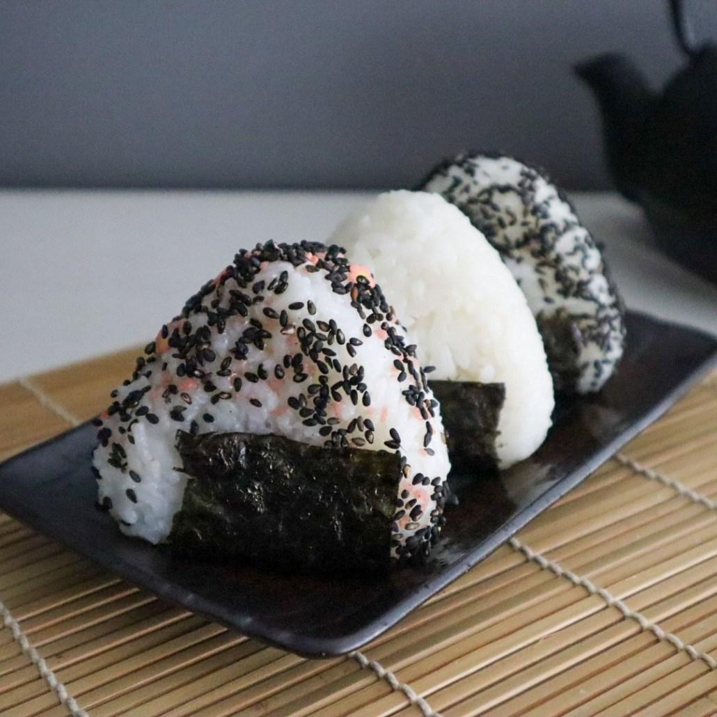 vegan recept voor japanse rijstballen onigiri