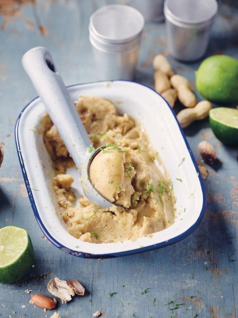 recette végétalienne glace banane-cacahuète salée