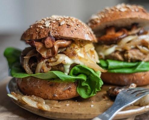 vegan recept hennepburger met shiitake
