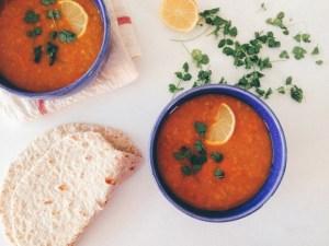 recette végétalienne soupe dahl