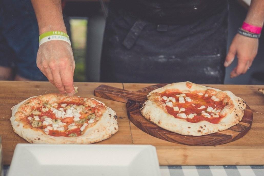pizza au fromage végane