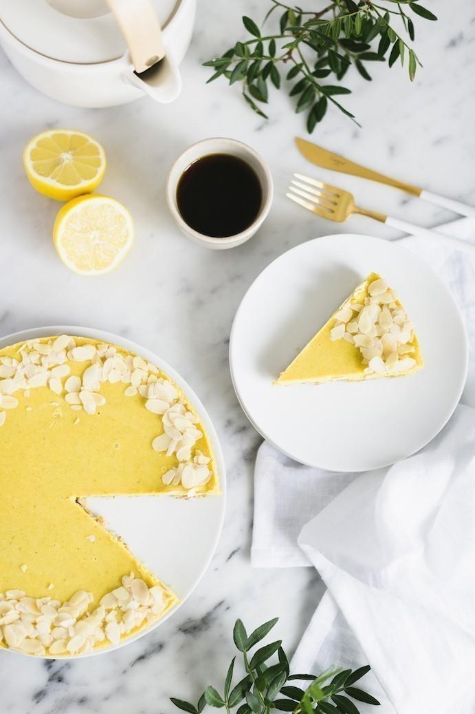 recept vegan citroentaart met cashewnoten