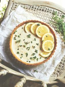 vegan recept lemoncurd taart met tijm