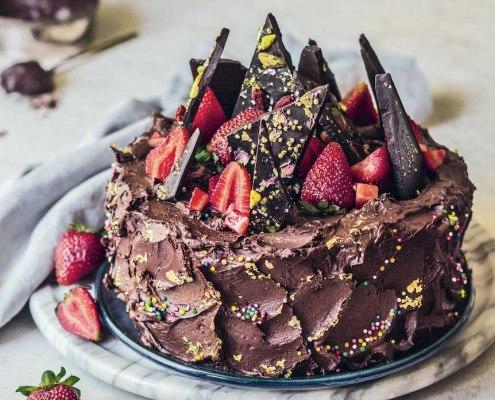 vegan recept chocoladetaart