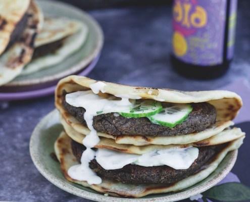 vegan recept Indiase burger tikka masala met raita