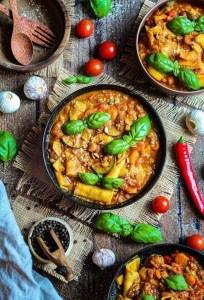 recept veganistische pompoen-lasagnesoep