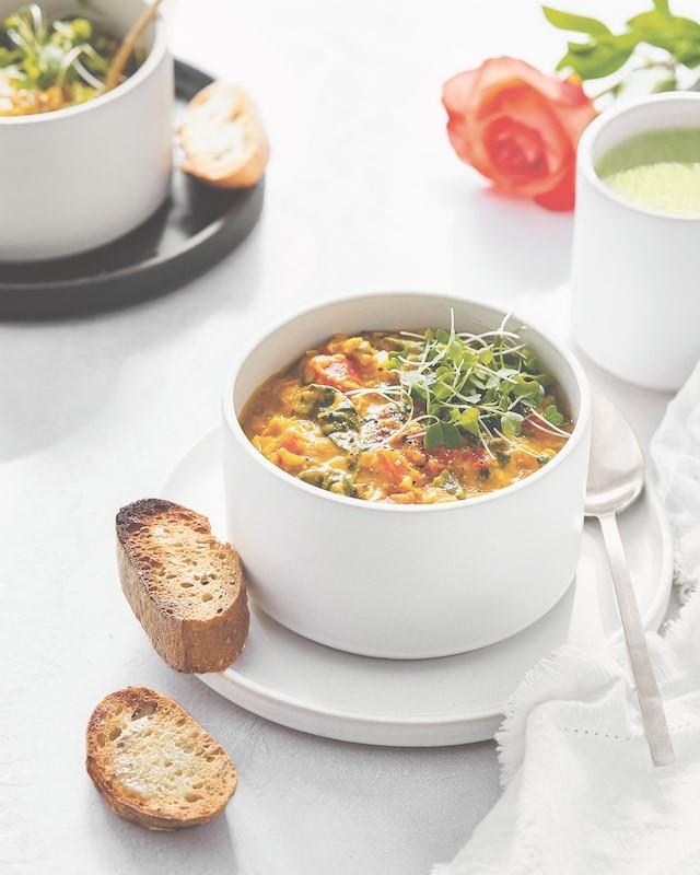 recette végétalienne soupe de lentilles épicée