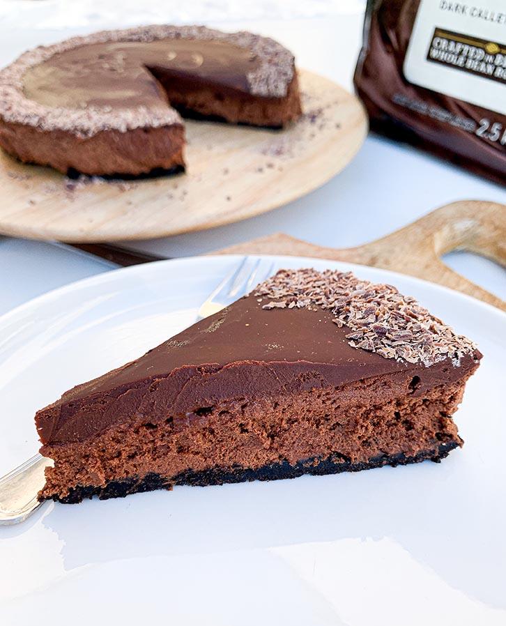 veganistische chocolademoussetaart