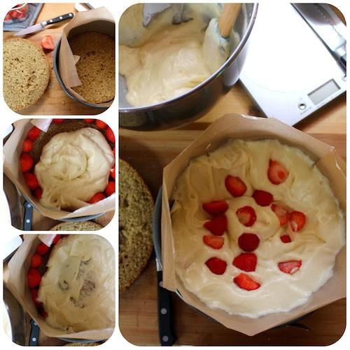vegan fraisier maken