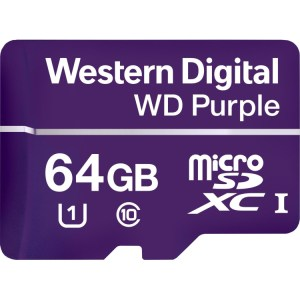 WD Purple MicroSD geheugenkaart 64 GB, microSDXC