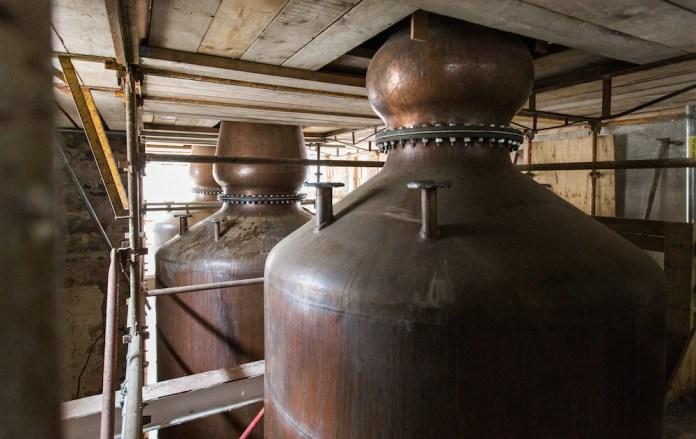Slane Distillery Stills Installation 2