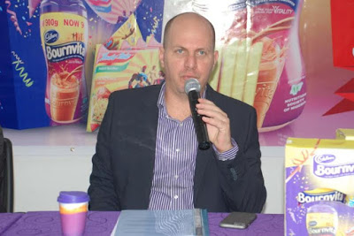 Managing Director, Cadbury West Africa, Mr Roy Naaman, speaking at the event
