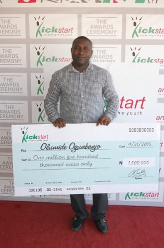 Olumide Ogunbanjo, Grand Prize Winner of grant of N1.5 million in Season One