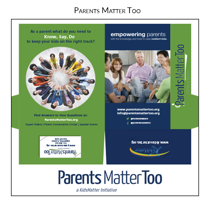 parents matter too presentation folder grahic design