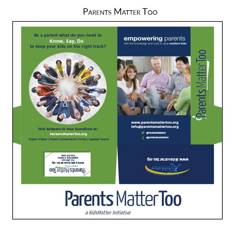 parents matter too presentation folder grahic design