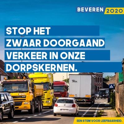 Stop het zwaar doorgaand verkeer in onze dorpskernen