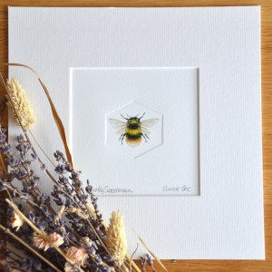 Bumble Bee hand embossed limited edition print