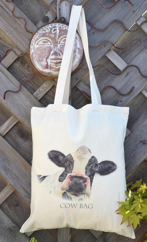 cow bag cotton tote bag