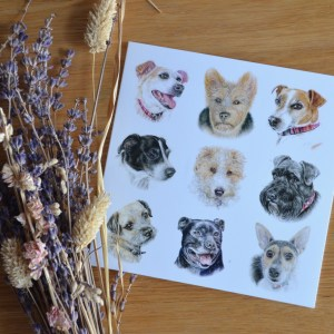 terrier dogs greetings card