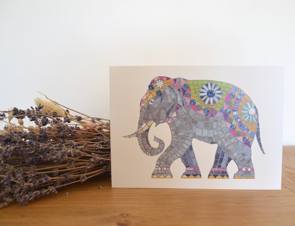 elephant-mosaic-card