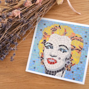 Marilyn Monroe mosaic greetings card