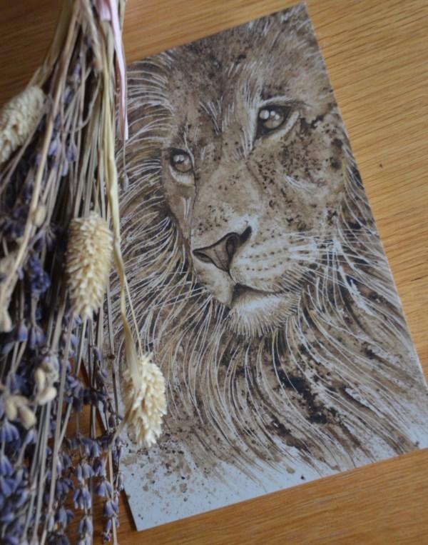 leo-lion-card