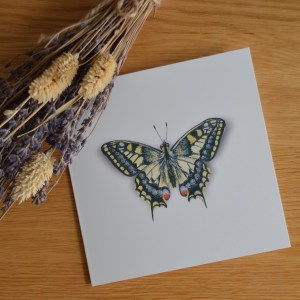 Swallowtailed butterfly greetings card